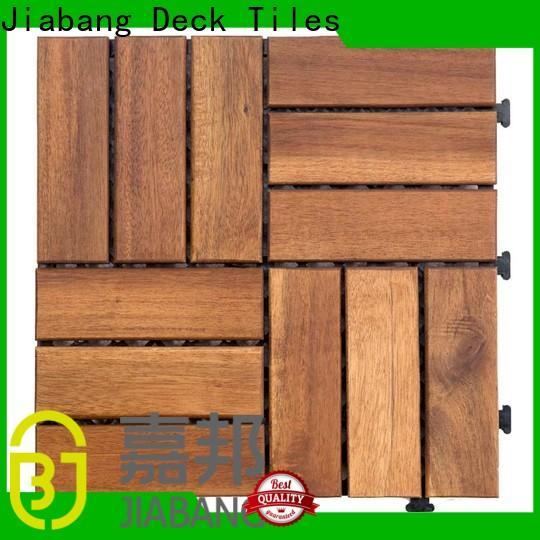 JIABANG interlocking acacia hardwood deck tiles low-cost easy installation