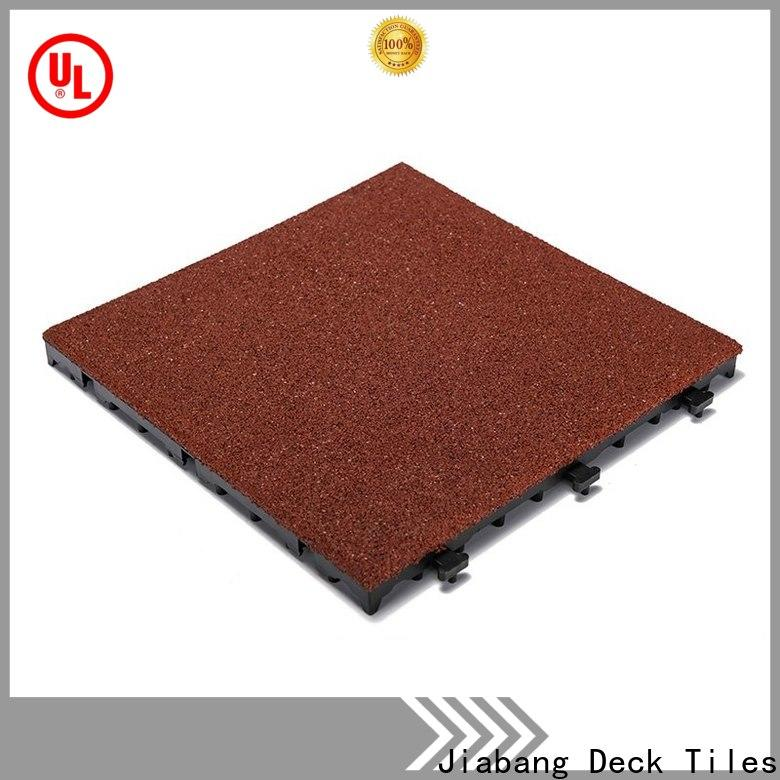 JIABANG composite rubber gym flooring tiles light weight at discount