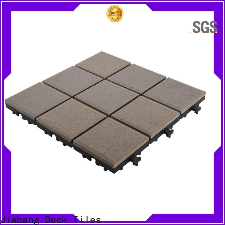 OEM porcelain interlocking deck tiles exhibition free delivery gazebo construction