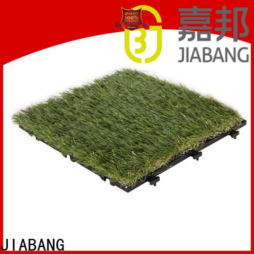 JIABANG permeable outdoor wood tiles on grass easy installation for customization