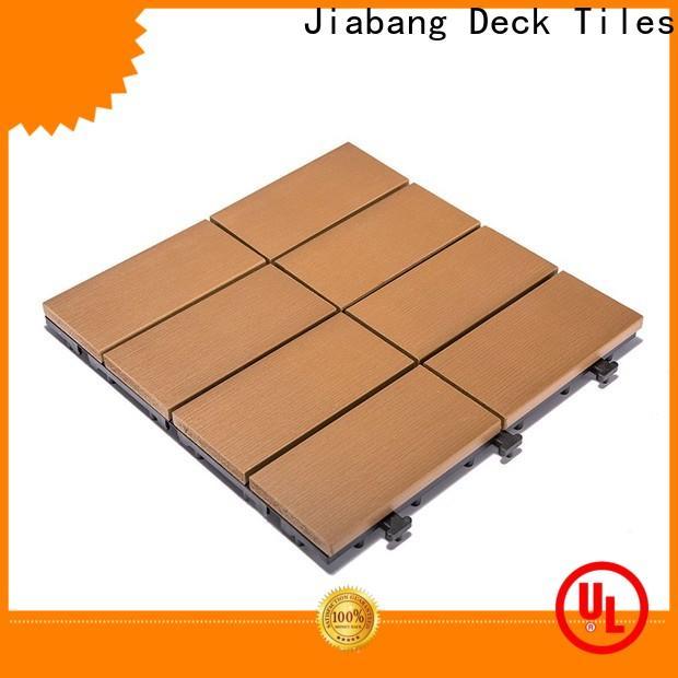 JIABANG light-weight plastic decking tiles anti-siding garden path