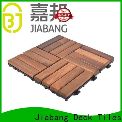 JIABANG durable acacia tile flooring cheapest factory price at discount