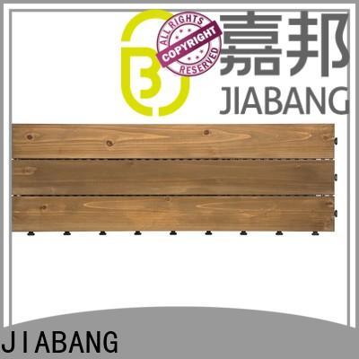 JIABANG diy wood interlocking wood deck tiles flooringwood for garden