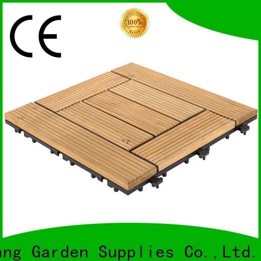 interlocking garden wooden decking tiles natural flooring for balcony