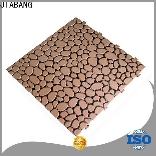 JIABANG hot-sale plastic interlocking deck tiles for customization