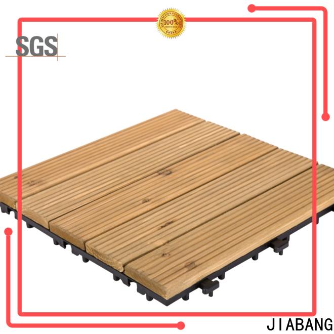 JIABANG interlocking wood deck panels flooring for balcony