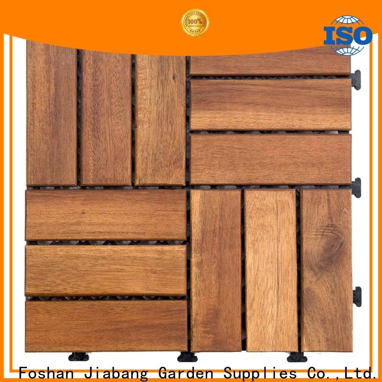 JIABANG solid wood acacia tile flooring low-cost easy installation