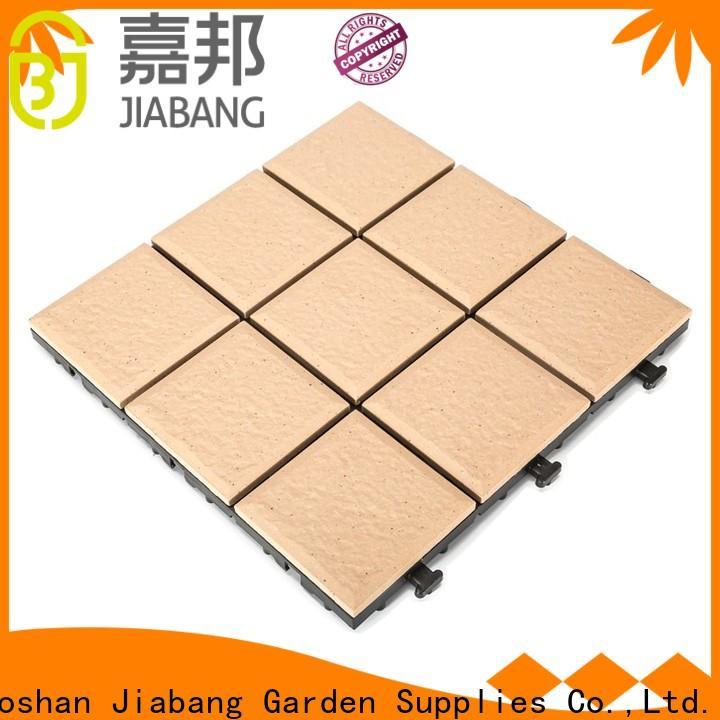 ODM porcelain interlocking deck tiles flooring cheap price for patio decoration