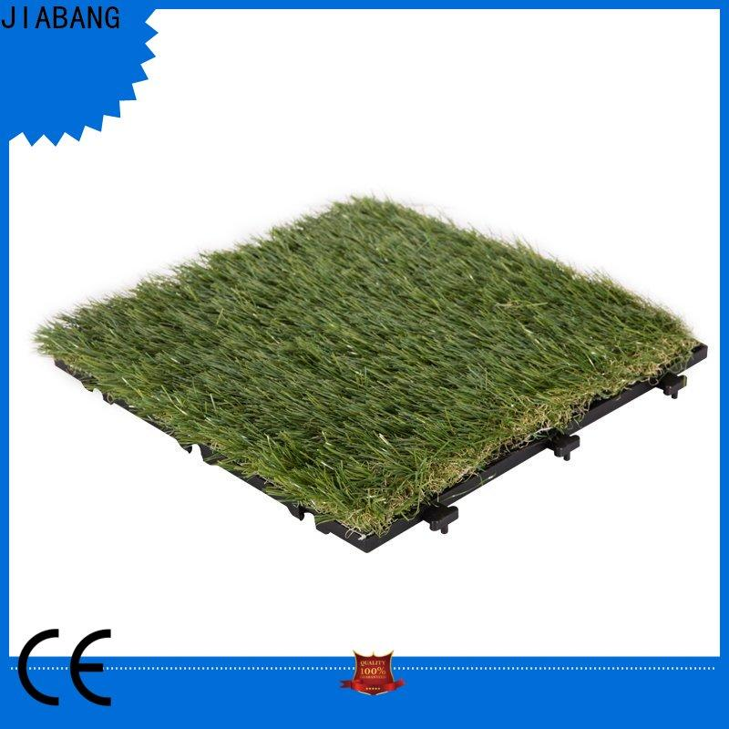 JIABANG chic design artificial grass turf tile easy installation for wholesale