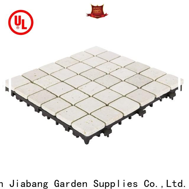 interlocking exterior travertine tile outdoor wholesale for garden decoration