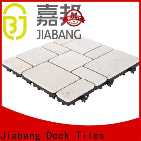 interlocking travertine stone deck tiles natural high-quality for playground