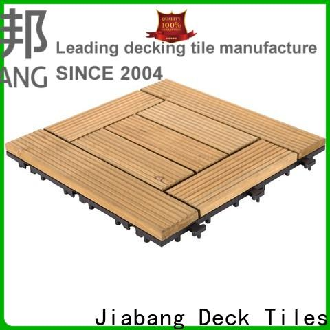 adjustable square wooden decking tiles natural wood deck for balcony