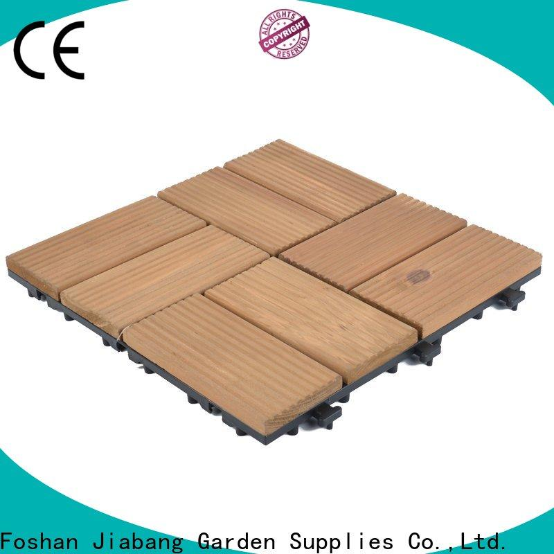 JIABANG natural wooden interlocking deck tiles chic design for balcony