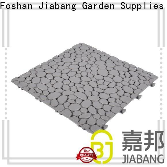 decorative plastic interlocking patio tiles anti-sliding for customization