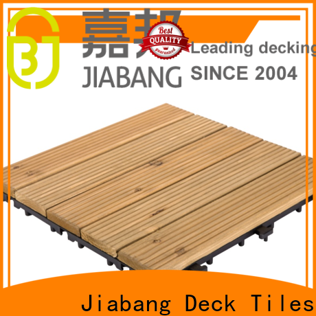JIABANG adjustable wood floor decking tiles chic design for garden