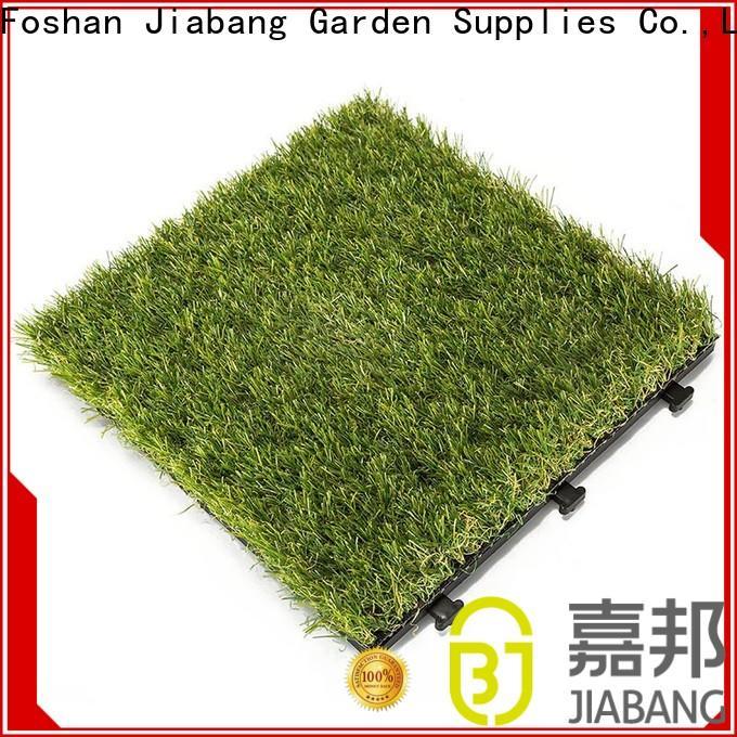 JIABANG high-quality artificial grass turf tile balcony construction
