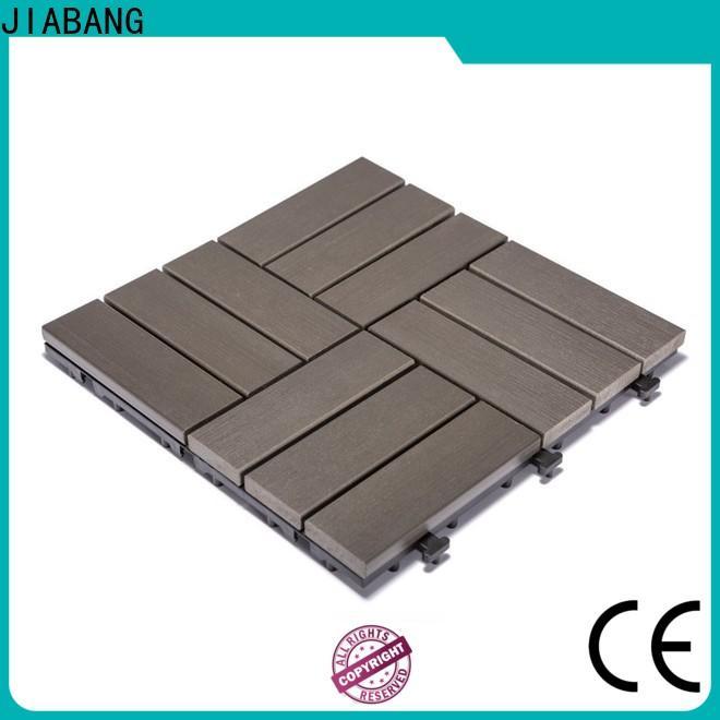 JIABANG light-weight plastic patio flooring tile popular home decoration