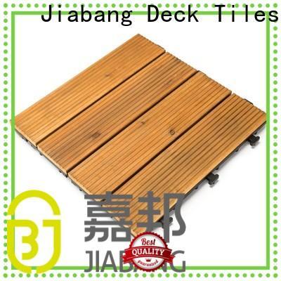 JIABANG adjustable modular wood decking chic design for garden