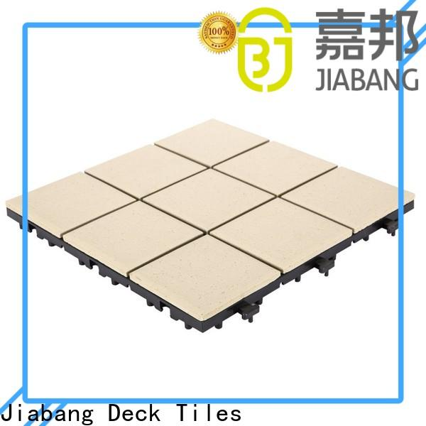 JIABANG exterior rubber tiles manufacturing process cheapest factory price for garden