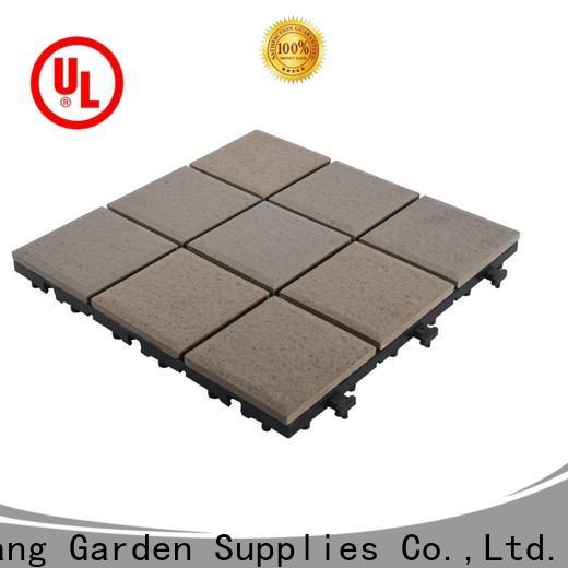 OBM porcelain interlocking deck tiles cheap price for patio decoration