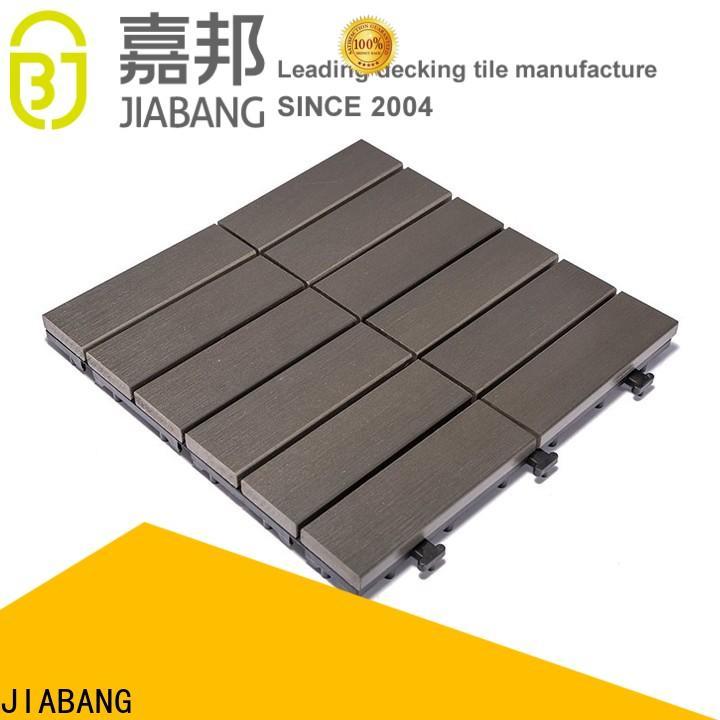 JIABANG durable pvc deck tiles anti-siding gazebo decoration