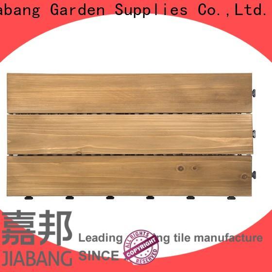 JIABANG adjustable interlocking wood deck tiles chic design wooden floor