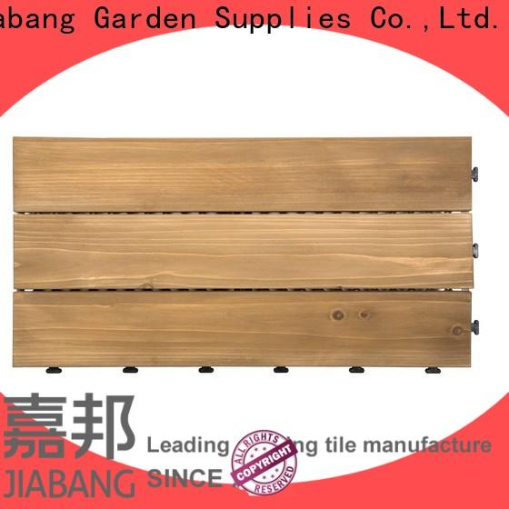 JIABANG adjustable interlocking wood deck tiles chic design wooden floor