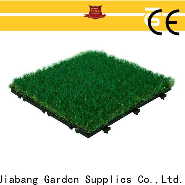 JIABANG wholesale green grass carpet tiles artificial grass garden decoration