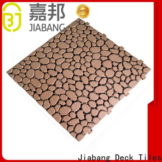 JIABANG plastic mat outdoor plastic tiles non-slip for customization