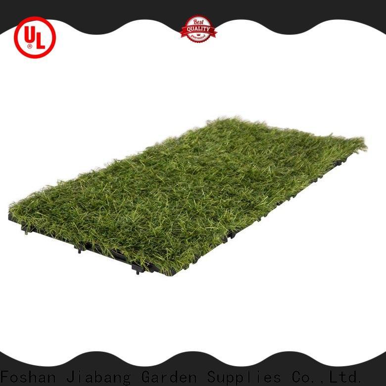 JIABANG high-quality artificial grass interlocking tiles artificial grass balcony construction