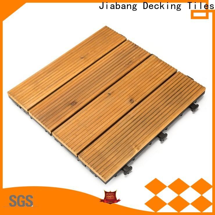 JIABANG diy wood wooden patio deck squares flooring for balcony