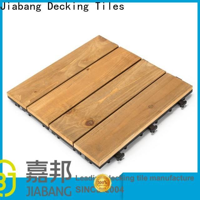 adjustable square wooden decking tiles natural long size for garden