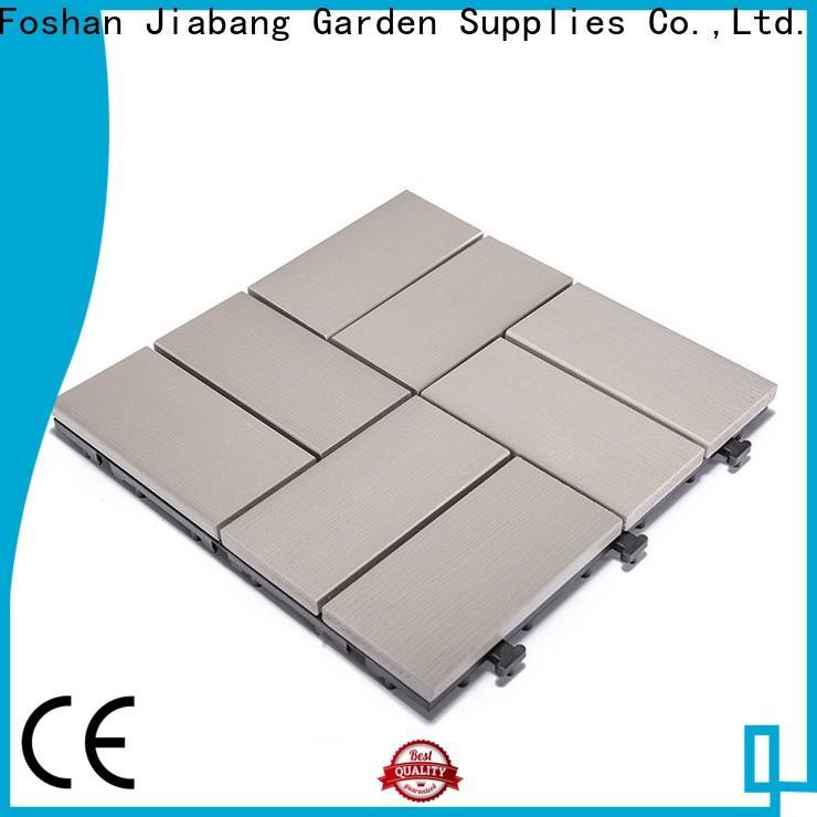 JIABANG high-end plastic interlocking deck tiles popular garden path