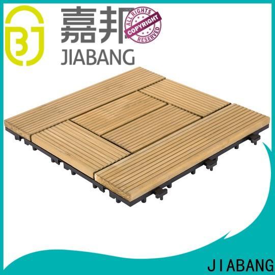 JIABANG interlocking square wooden decking tiles chic design for balcony