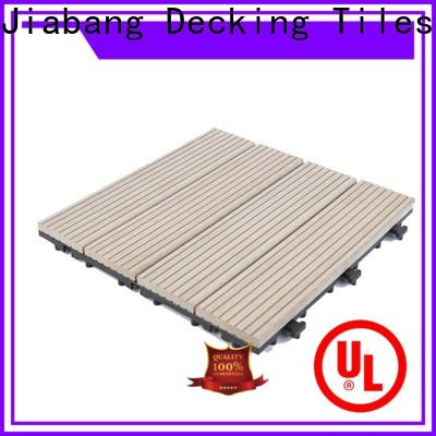 JIABANG light-weight composite wood deck tiles hot-sale top brand
