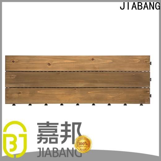 JIABANG outdoor interlocking wood deck tiles long size wooden floor
