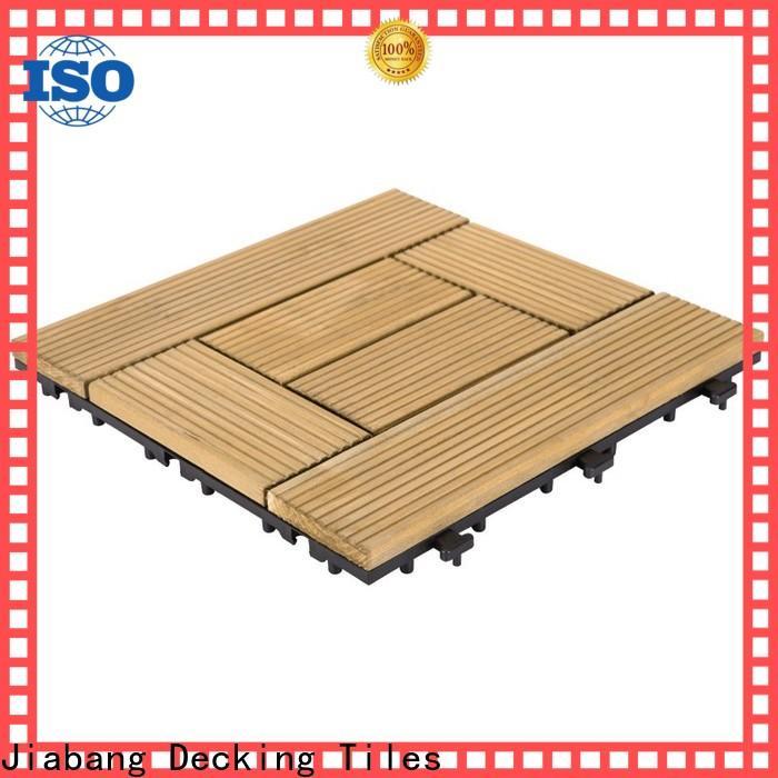 JIABANG refinishing wooden interlocking deck tiles wooddeck for balcony