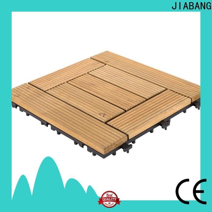 JIABANG natural modular wood deck tiles long size wooden floor