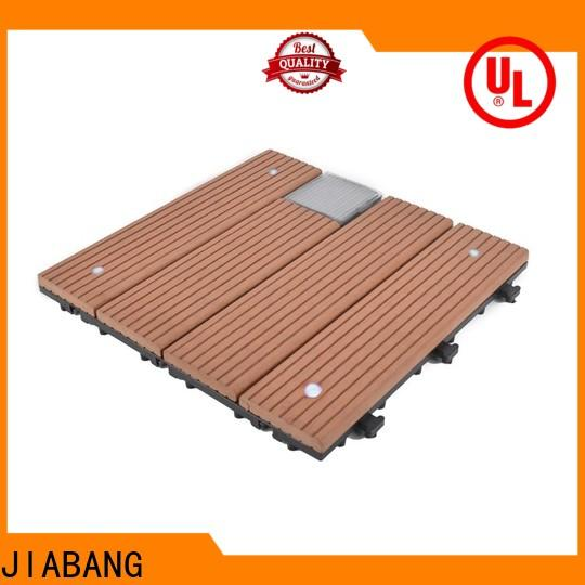 JIABANG wpc outdoor composite deck tiles decorative ground