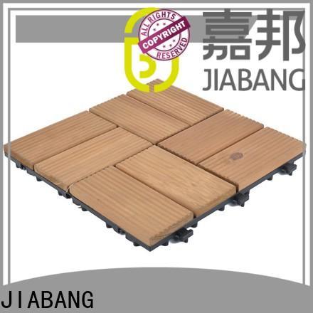 JIABANG interlocking wood deck panels flooring for garden