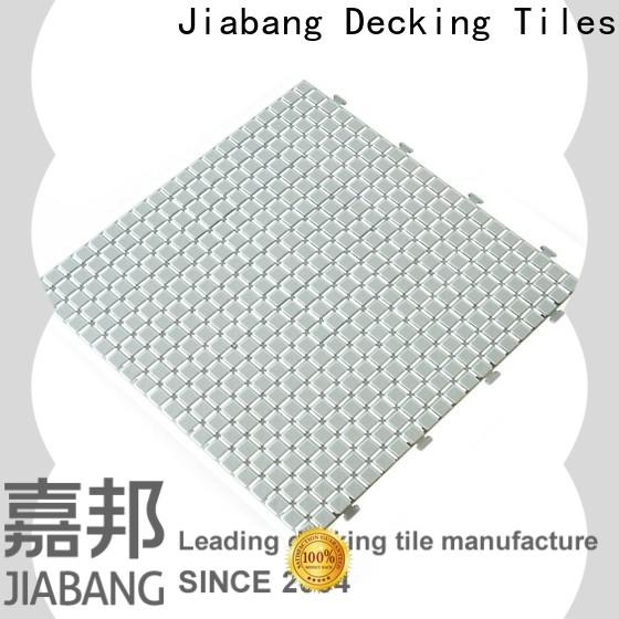 JIABANG decorative plastic interlocking deck tiles for customization