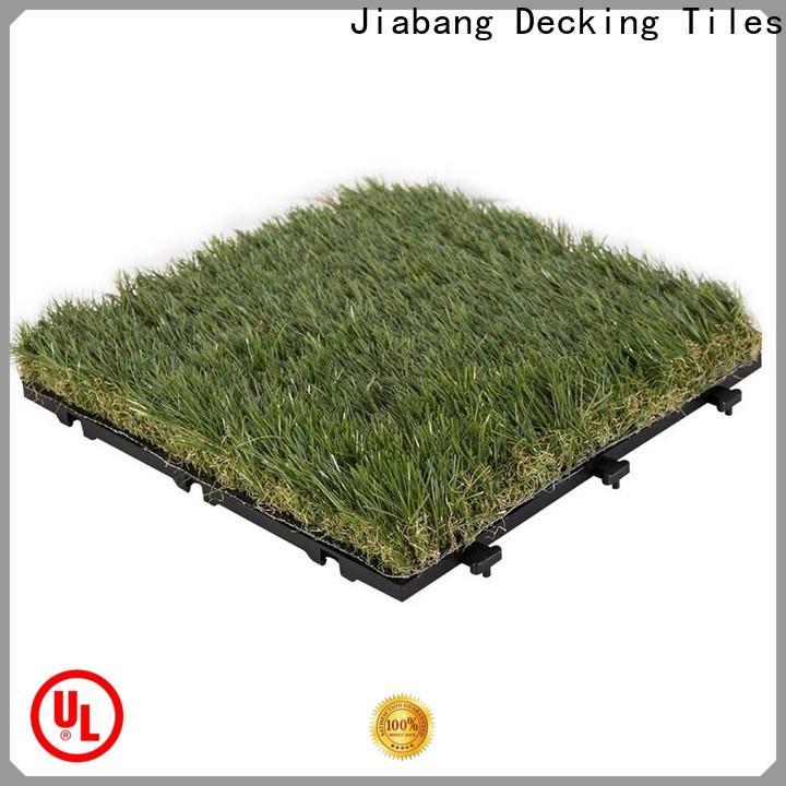 JIABANG flooring artificial grass carpet tiles easy installation for customization