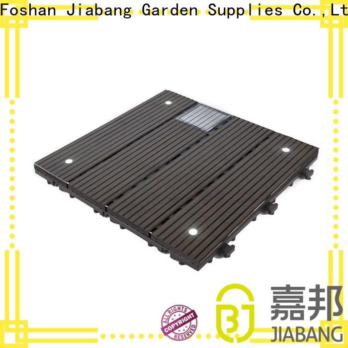 JIABANG wpc modular decking panels garden lamp