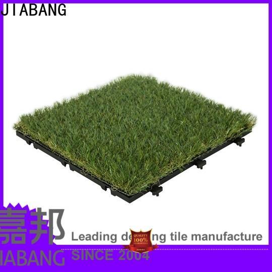 JIABANG wholesale green grass carpet tiles at discount garden decoration