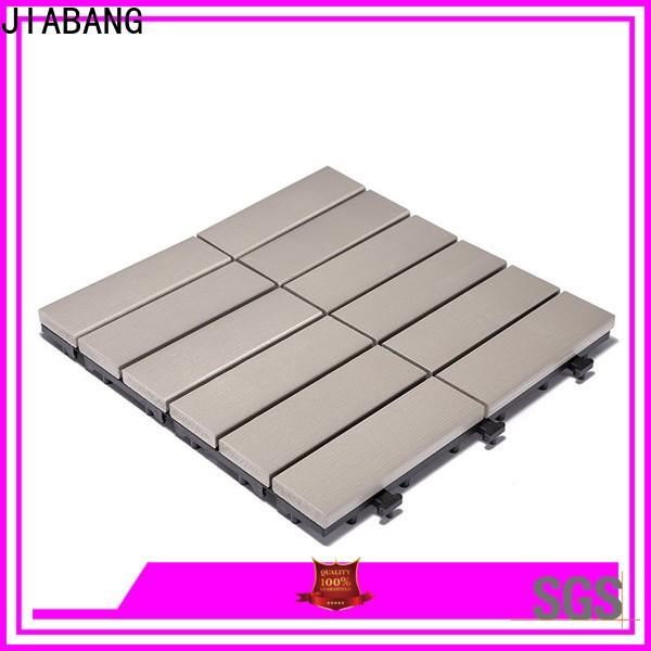 JIABANG pvc plastic interlocking patio tiles anti-siding gazebo decoration
