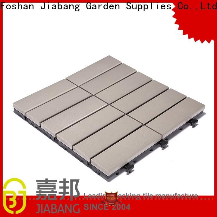 JIABANG pvc outdoor plastic deck tiles popular garden path