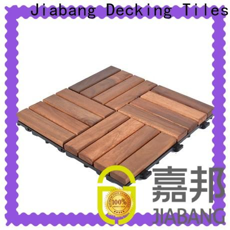 JIABANG solid wood acacia wood outdoor flooring low-cost for decoration