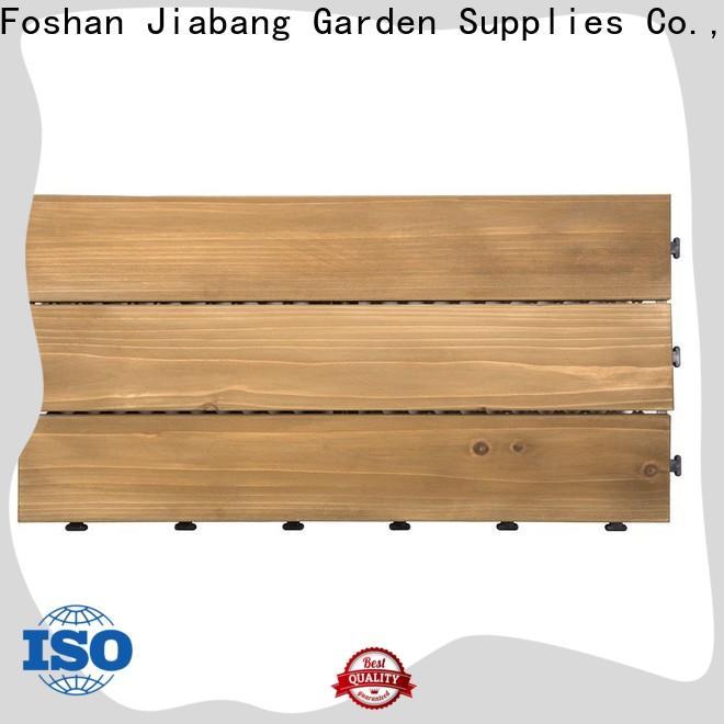 JIABANG outdoor interlocking wood deck tiles flooringwood for balcony
