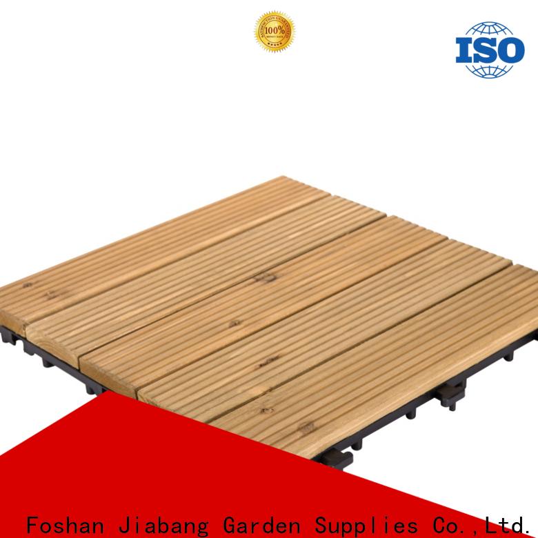 JIABANG refinishing wooden patio deck squares flooringwood for balcony