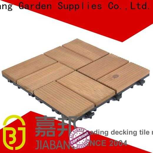 JIABANG hot-sale outdoor wood deck tiles gazebo low maintenance